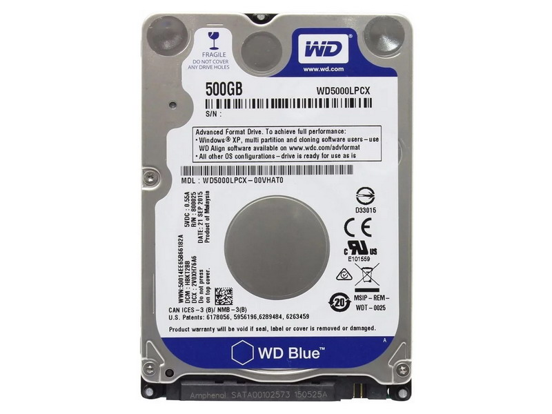 HDD 500GB WD Blue 2.5